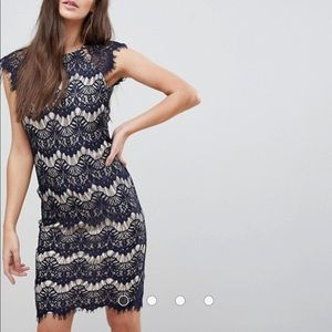 ASOS lace midi dress